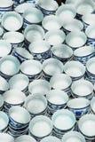 Piccole tazze di tè rotonde della porcellana Fotografie Stock