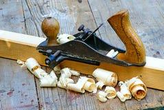 Piccoli aereo e legno di blocco Fotografie Stock Libere da Diritti