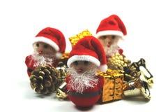 Piccoli assistenti del Babbo Natale Immagini Stock