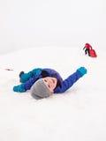 Piccoli bambini che sledging Fotografia Stock