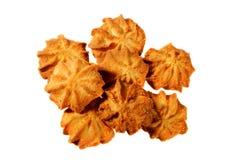 Piccoli biscotti casalinghi su un fondo bianco Fotografie Stock