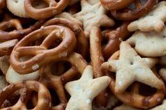 Piccoli biscotti salati Immagini Stock Libere da Diritti