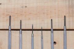 Piccoli cacciaviti del metallo Fotografie Stock Libere da Diritti