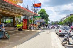 Piccoli caffè e negozi sul tailandese immagini stock