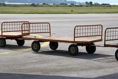 Piccoli carretti del bagaglio Fotografia Stock