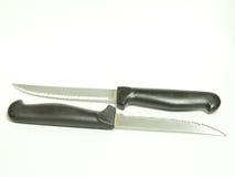 Piccoli coltelli su bianco Fotografia Stock Libera da Diritti