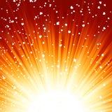 Piccoli cuori che galleggiano sui raggi di indicatore luminoso. ENV 8 illustrazione vettoriale