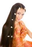 Piccoli fiori nei capelli Fotografia Stock