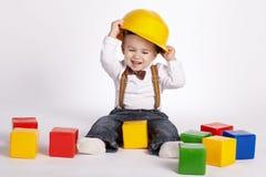 Piccoli giochi dell'ingegnere con i cubi Fotografia Stock