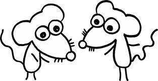 Piccoli mouses pazzeschi Fotografia Stock