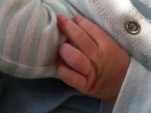 Piccoli neonati mano, fine su Immagini Stock Libere da Diritti