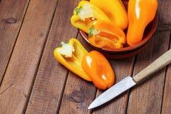 Piccoli peperoni dolci Fotografia Stock