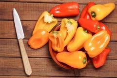 Piccoli peperoni dolci Fotografie Stock Libere da Diritti