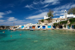 Piccoli pescatori villaggio, Grecia Fotografia Stock Libera da Diritti
