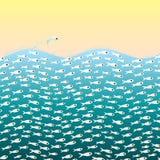 Piccoli pesci nel mare Fotografia Stock
