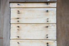 Piccoli pezzi di plancia di legno per fare stile dell'annata dei pali della casa Fotografia Stock