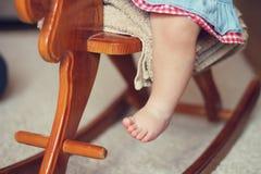 Piccoli piedi del bambino Fotografia Stock Libera da Diritti