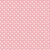 Piccoli pois bianchi su rosa-chiaro pastello Fotografia Stock