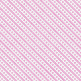 Piccoli pois rosa-chiaro e bianchi e ripetizione del modello delle bande Fotografia Stock Libera da Diritti