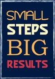 Piccoli punti Grandi risultati Manifesto motivazionale di citazione illustrazione di stock