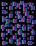 Piccoli quadrati di colore. royalty illustrazione gratis