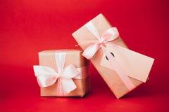 Piccoli regali di Natale Fotografia Stock