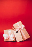 Piccoli regali di Natale Fotografie Stock Libere da Diritti