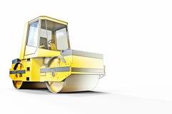 Piccoli schizzo e costruzione del rullo compressore Fotografia Stock Libera da Diritti