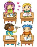 Piccoli scolari, Fotografia Stock
