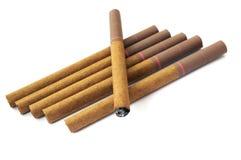 piccoli sigari isolati Fotografia Stock