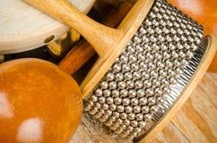 Piccoli strumenti di percussione Fotografia Stock