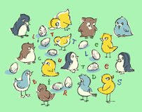 Piccoli uccelli svegli Fotografia Stock