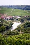 Piccoli villaggio e vigne Immagini Stock