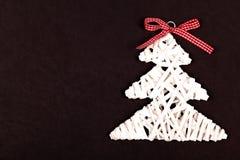Piccolo albero di natale bianco Fotografie Stock