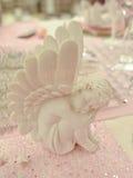 Piccolo angelo bianco valentine Fotografie Stock Libere da Diritti