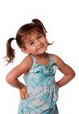 Piccolo atteggiamento della ragazza del bambino Fotografie Stock Libere da Diritti