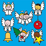 Piccolo azzurro di angeli 2 Immagini Stock Libere da Diritti