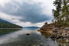 Piccolo baia dell'orso sull'isola di Vancouver della costa Est BC immagine stock libera da diritti