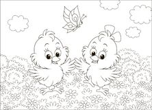 Piccolo ballare sveglio dei pulcini royalty illustrazione gratis