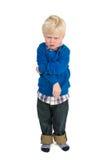 Piccolo bambino arrabbiato fotografia stock libera da diritti