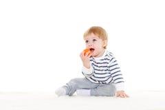 Piccolo bambino con la sfera Fotografie Stock