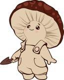 Piccolo bambino divertente del fungo Fotografia Stock