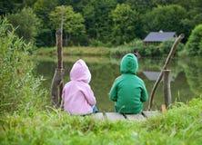 Piccolo bambino due Fotografia Stock Libera da Diritti