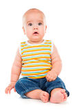 Piccolo bambino felice Fotografie Stock Libere da Diritti