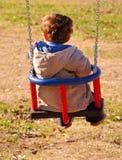 Piccolo bambino nell'azione fotografie stock