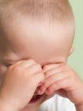 Piccolo bambino nella tristezza Fotografia Stock