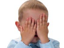 Piccolo bambino nella tristezza Fotografia Stock Libera da Diritti
