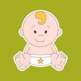Piccolo bambino neonato - arte stilizzata per il logos, i segni, le icone e la d Royalty Illustrazione gratis