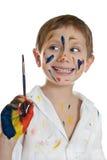 Piccolo bambino, pittura dissipante. Immagine Stock Libera da Diritti