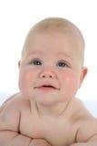 Piccolo bambino su bianco immagini stock
